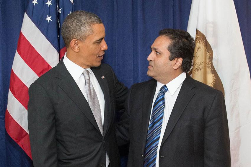 Ajay Jain Bhutoria with President Barack Obama.