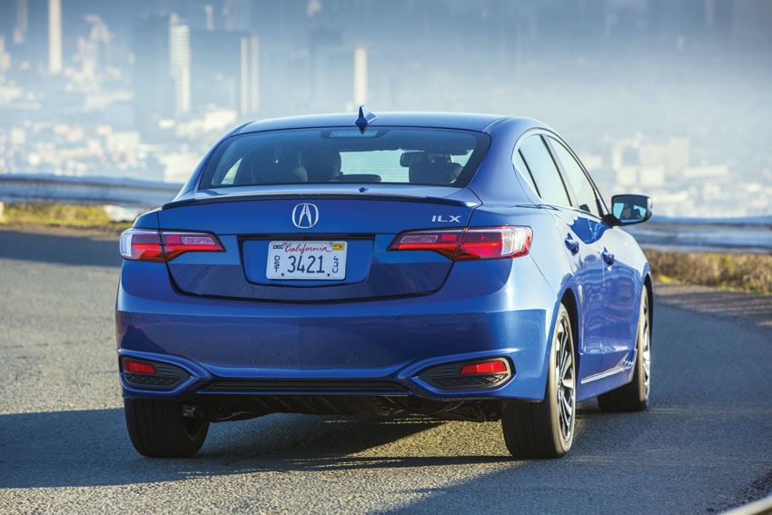 Exterior view of the 2016 Acura ILX.