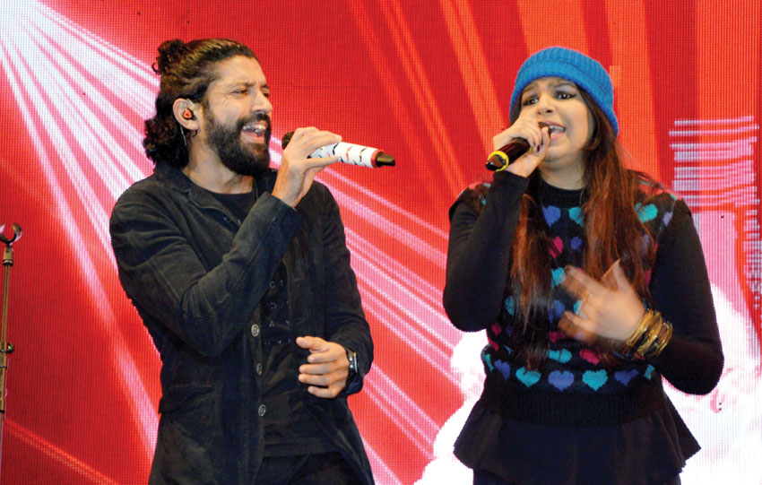 #FarhanAkhtar performs at a live concert at #Coke Studio in Gurgaon, Dec. 27. (Press Trust of India)