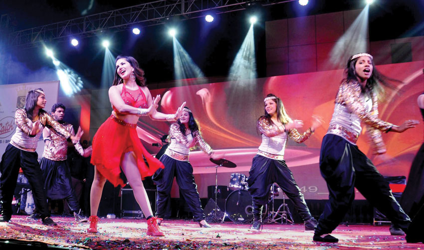 Sunny Leone performing at a live show in Dehradun, Dec. 27. (Press Trust of India)