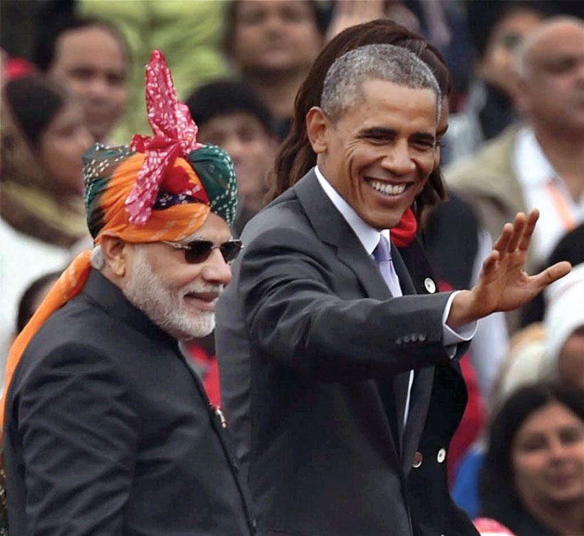 File photo of Indian Prime Minister Narendra Modi and President Barack Obama at India's 66th Republic Day Parade in New Delhi, in January, last year. (Atul Yadav | PTI)