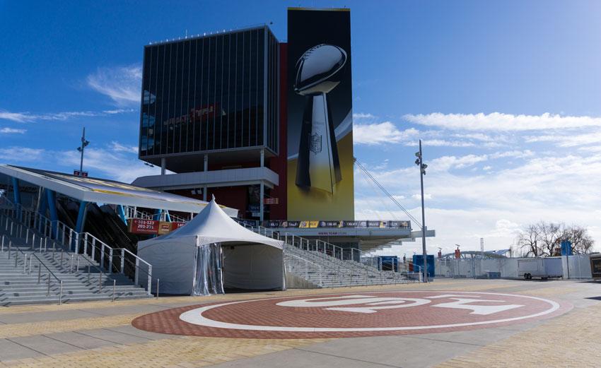 The venue of Super Bowl 50, Levi's Stadium in Santa Clara, Calif.  (Getty Images)
