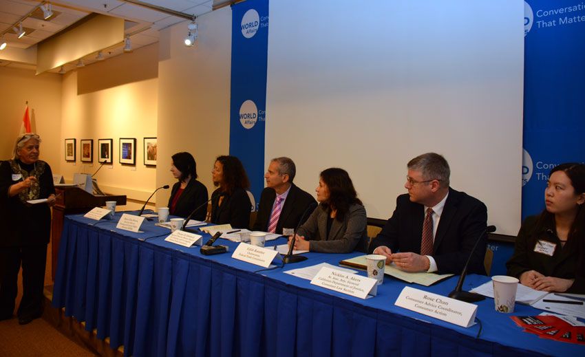 Federal Trade Commission Meet panelists talk to ethnic media at World Affairs Center in San Francisco, Feb. 11. (Amar D. Gupta | Siliconeer)