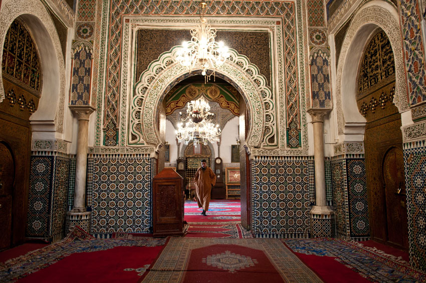 Inside of a mosque in Fes, Morocco. (Michal Osmenda | Wikimedia Commons)