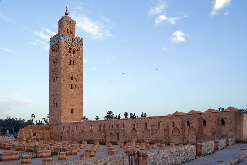 An example of the high art of Mosques in Marrakech.