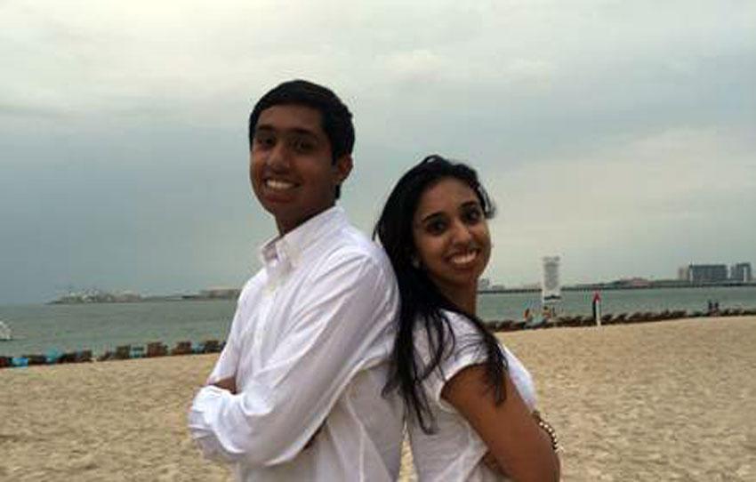 Akshaya Patra USA Youth Ambassadors Rohan and Rhea Bansal.