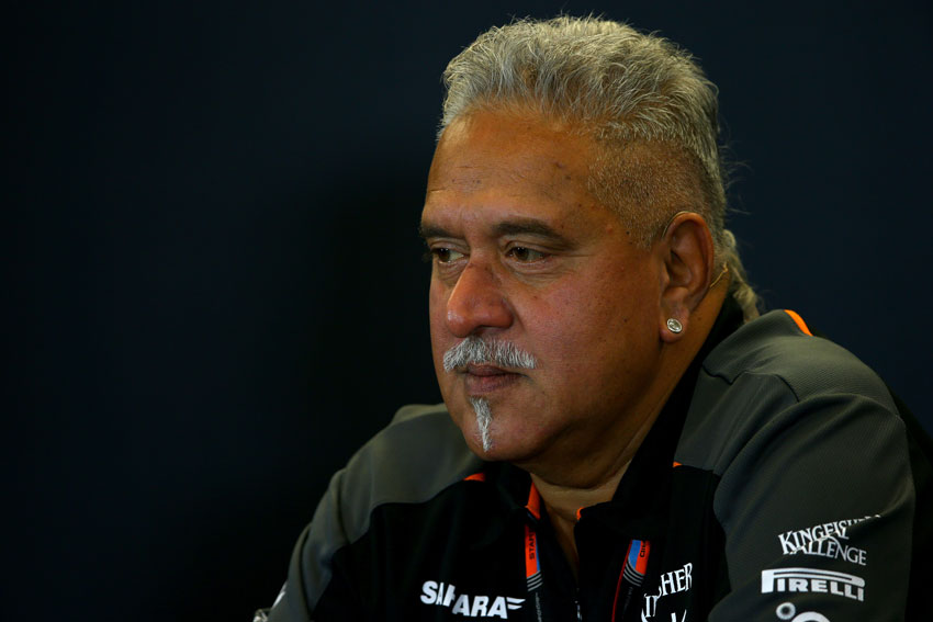 File photo of Vijay Mallya at a press conference after practice for the United States Formula One Grand Prix at Circuit of The Americas, Oct. 23, 2015 in Austin, Texas.  (Mark Thompson | Getty Images)