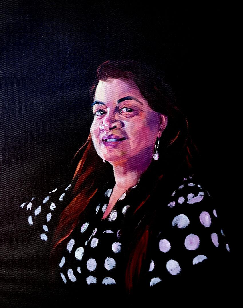 Jyotica, Oil Portrait, 9 x 11