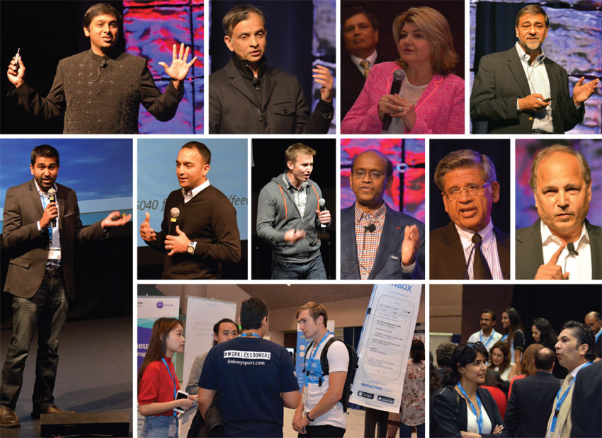 Glimpses of last year's TiEcon held May 15-16, 2015, at the Santa Clara Convention Center in Santa Clara, Calif., showing some of the keynote speakers who shared personal and professional experiences as they spoke about their journey to the top of Silicon Valley. (All photos: © Siliconeer)