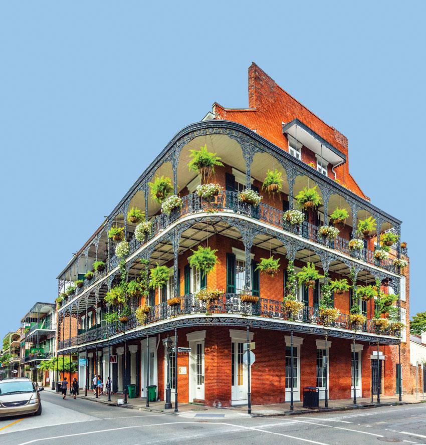 Exotic French Quarter residences.
