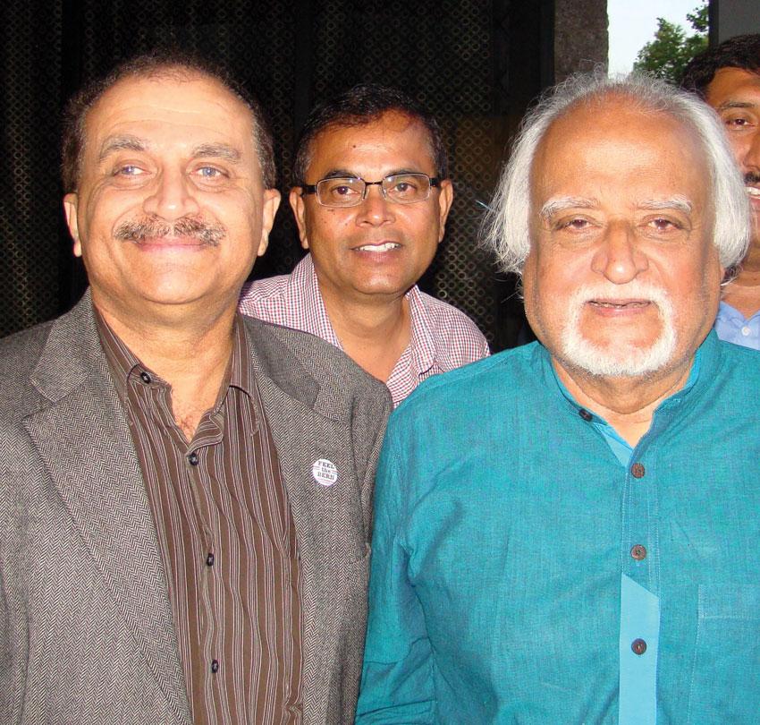 Ras Siddiqui (l) with Anwar Maqsood.