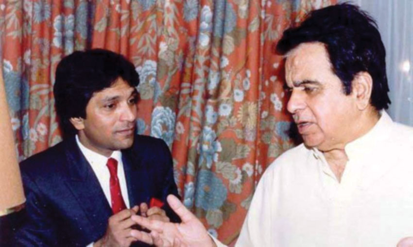 File photo of late Moin Akhtar and Dilip Kumar.