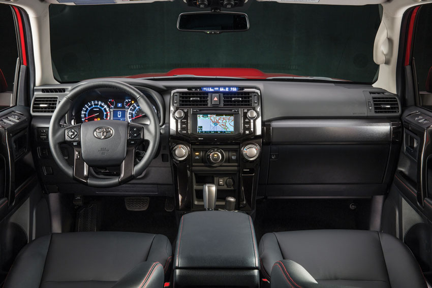 Interior view of the Toyota 4Runner.