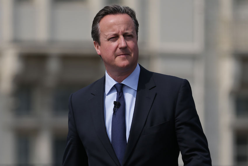 British Prime Minister David Cameron arrives to deliver a speech on the EU referendum at the Savoy Place, June 7, in London, United Kingdom. Cameron was not in favor of Britain's exit from the European Union and has announced his resignation, June 24. (Daniel Leal-Olivas | WPA Pool | Getty Images)