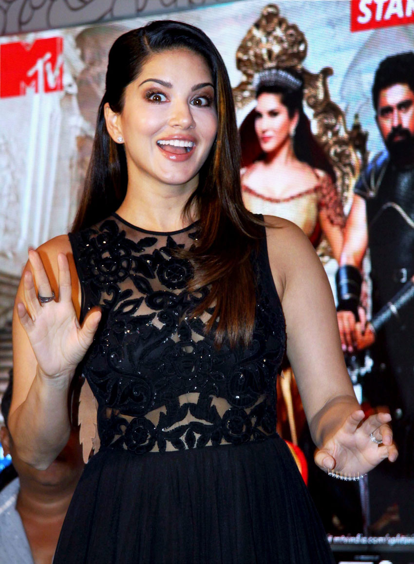 Sunny Leone at the launch of MTV Splitsvilla Season 9 in Mumbai, Jun. 1. (Press Trust of India)