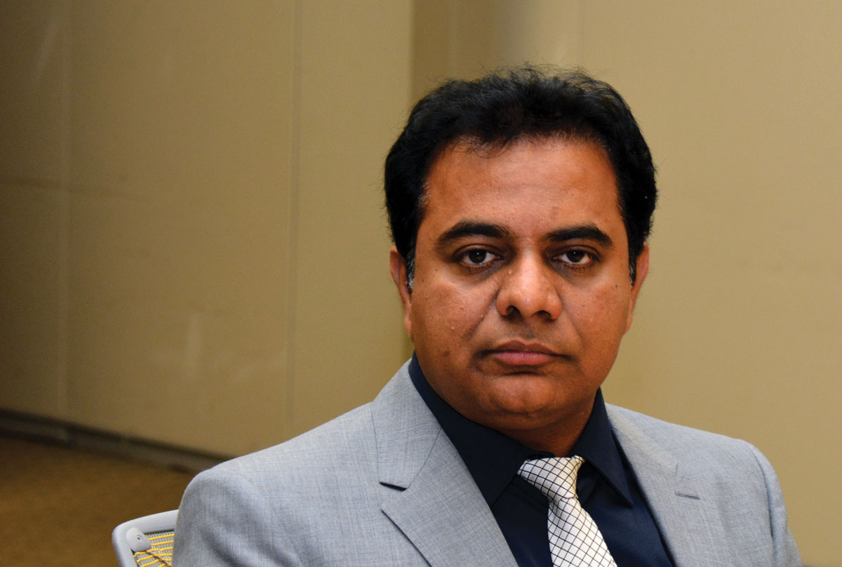 "Telangana's Information Technology Minister K. Taraka Rama Rao ""KTR"" during an exclusive interview with Siliconeer, in Santa Clara, Calif., June 1. (Amar D. Gupta 
