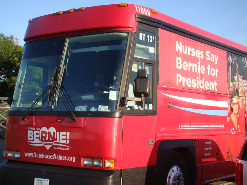 Red Bus for Bernie.