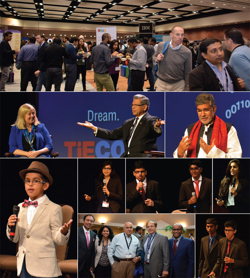 A mosaic of speakers and attendees at #TiECon2016.  (All Photos: Amar D. Gupta and Vansh Gupta | Siliconeer)