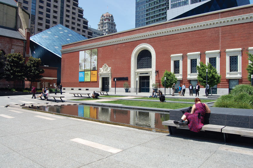 The Contemporary Jewish Museum at Third and Market streets in San Francisco. (Al Auger | Siliconeer)