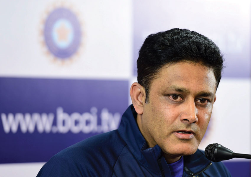 Indian Cricket Team Head Coach Anil Kumble speaks during a press conference on the first day of a preperatory camp ahead of the West Indies series, in Bengaluru, June 29. (Shailendra Bhojak | PTI)