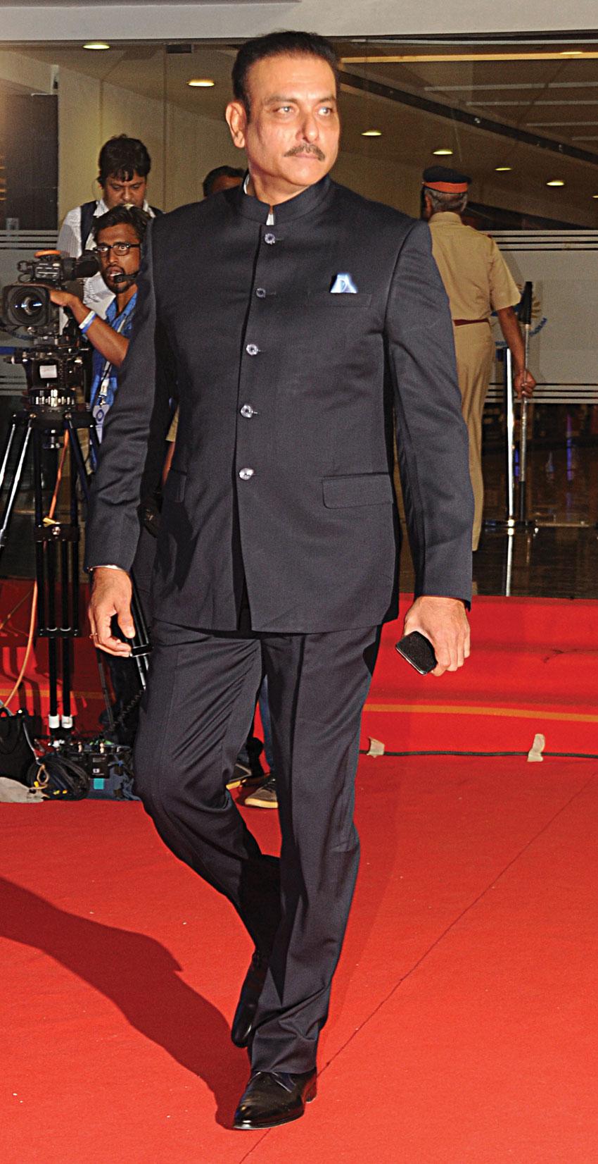 File photo of Indian Cricket Team Director Ravi Shastri, in Mumbai, April 8. (Sujit Jaiswal | AFP | Getty Images)