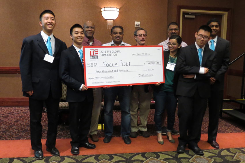 First place winners, Focus Four team from TiE South Coast. (All photos: TiE)