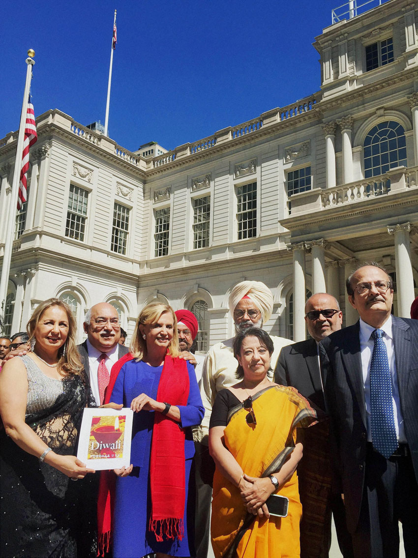 Congresswoman Carolyn Maloney announces that U.S. Postal Service will issue a commemorative Diwali stamp this year. (Press Trust of India)