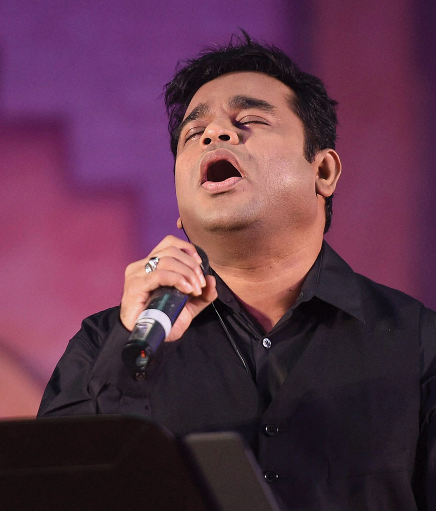 Music composer A.R. Rahman at a promotional event of the movie 'Mohenjo Daro' in Mumbai, July 12. (Mitesh Bhuvad | PTI)