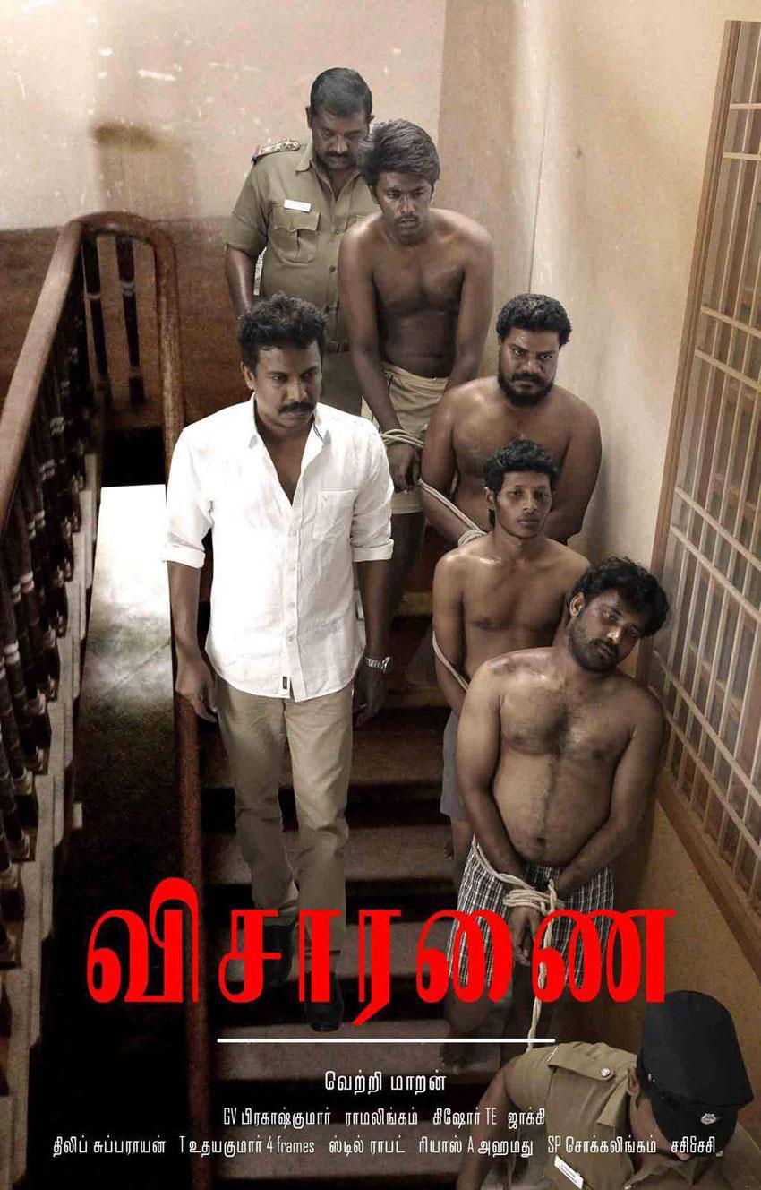 Poster of Visaranai. (Facebook/Wunderbar Films)