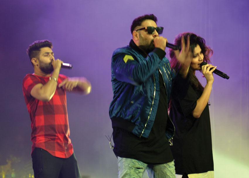 Badshah (c) and his group.