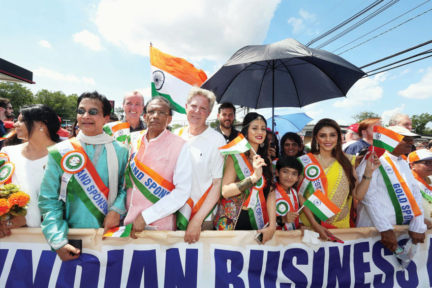Indian Independence Day celebrations at Oak Tree Road in New Jersey, NJ, Aug. 14. (Press Trust of India)