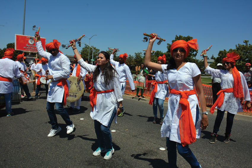 Youth at Fremont parade. (Amar D. Gupta/Siliconeer)