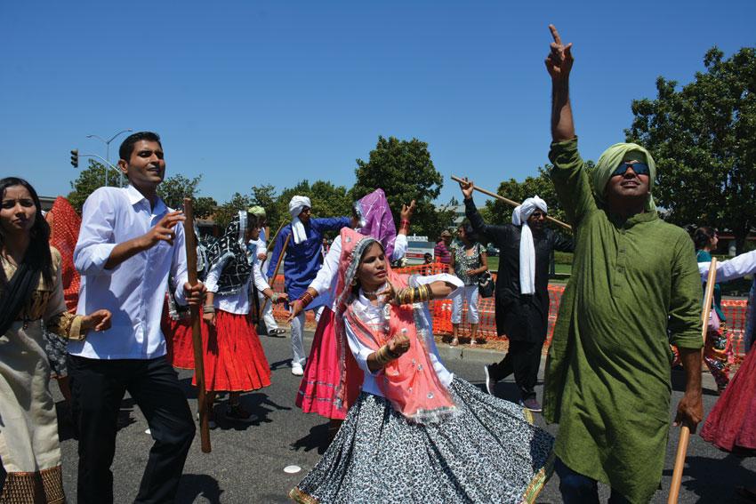 Haryana float participants in Fremont. (Amar D. Gupta/Siliconeer)