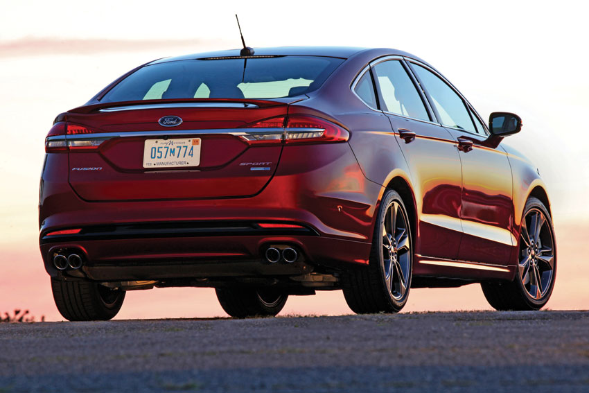 Exterior view of the 2017 Ford Fusion.