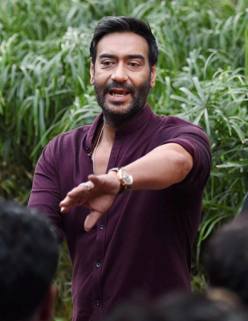 "Ajay Devgn during promotion of his film ""Shivaay"" in New Delhi, Oct. 25. (Atul Yadav/PTI)"
