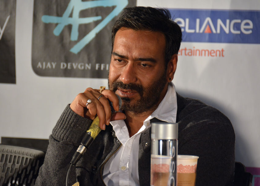 "Ajay Devgn promotes ""Shivaay"" at Ciné Grand Fremont 7 Theaters, in Fremont, Calif., Sept. 23. (Vansh A. Gupta/Siliconeer)"