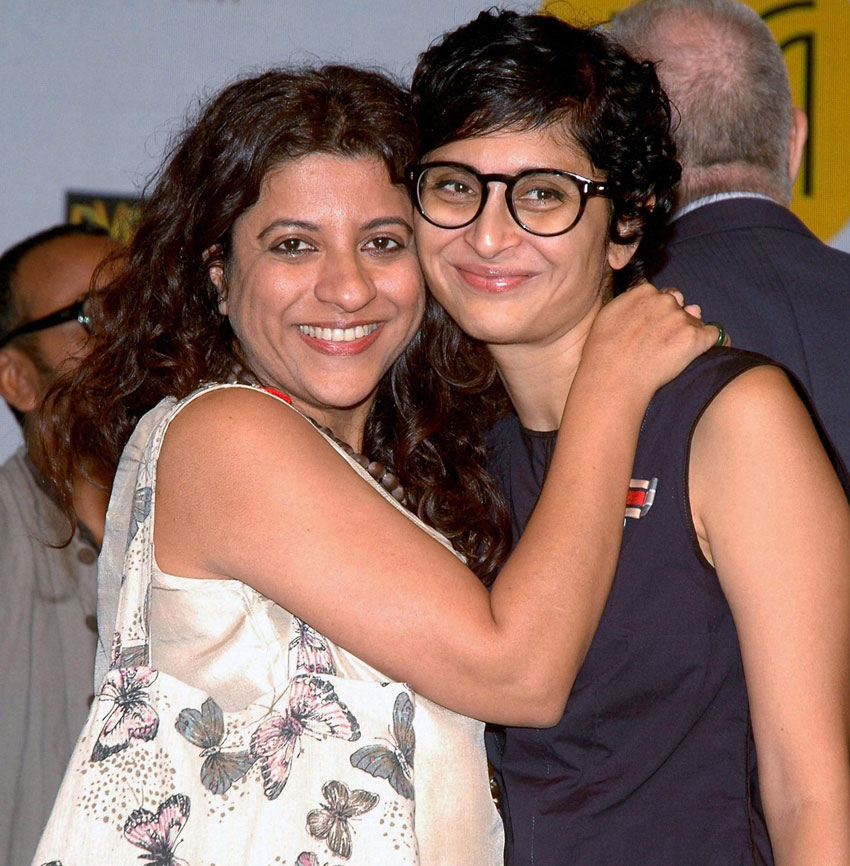 Zoya Akhter and Kiran Rao (r) at a press conference for the announcement of the 18th Mumbai Film Festival in Mumbai, Sept. 29. (Press Trust of India)