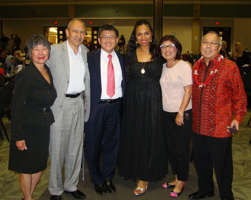 Hana Ali with Asian community.