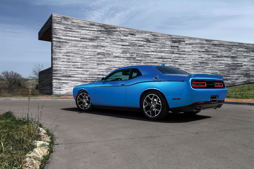 Exterior view of the 2016 Dodge Challenger.