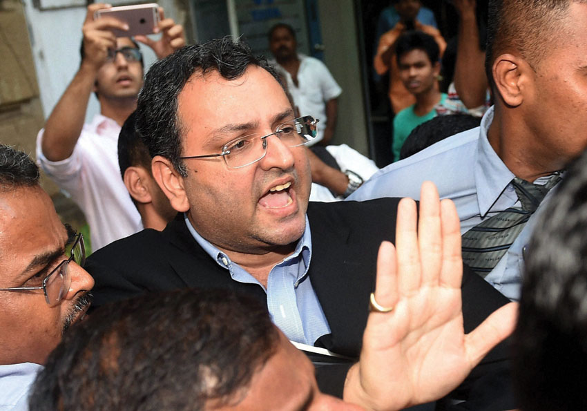 Ousted Chairman of Tata Sons, Cyrus Mistry leaves from Bombay House in Mumbai, Oct. 26. (Mitesh Bhuvad/PTI)