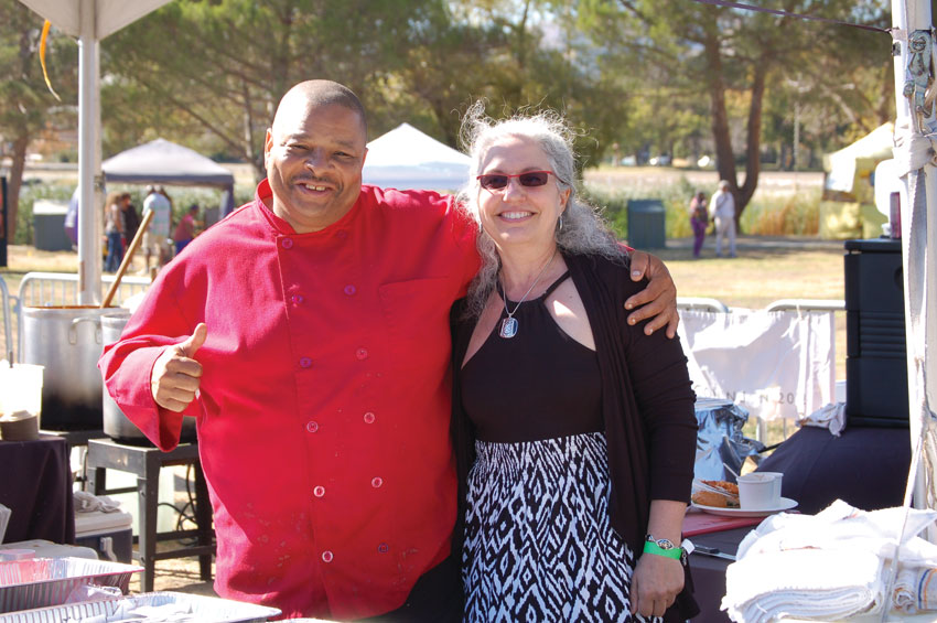 "Master Fenix Chef ""Gator"" Thompson and club owner Laura Van Galen. (Al Auger)"