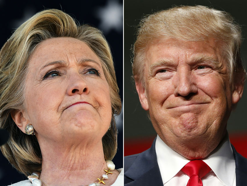 (L-r): Democratic presidential hopeful Hillary Clinton and Republican President-elect Donald Trump (Jewel Samad, Jeff Kowalsky/AFP/Getty Images)
