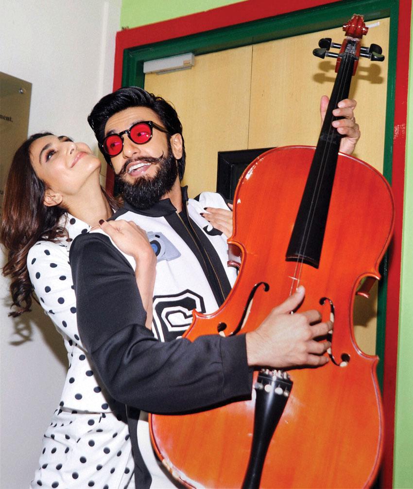 Vani Kapoor and Ranveer Singh at a promotion of 'Befikre' at Radio Mirchi studio in Mumbai, Nov. 28. (Press Trust of India)