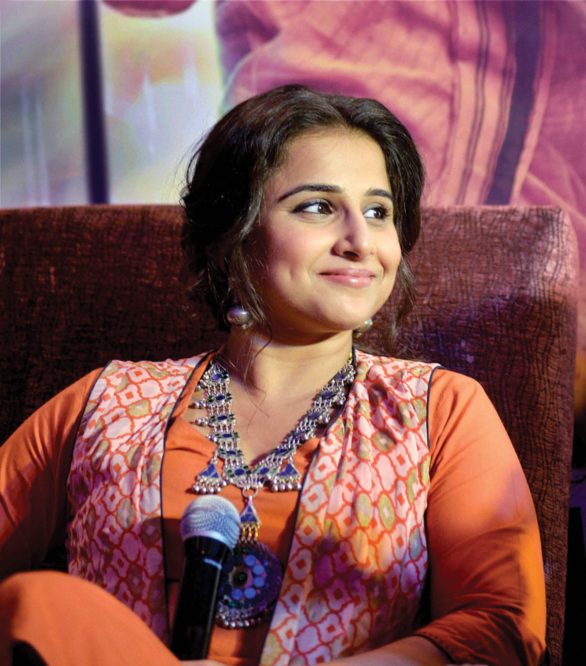 Vidya Balan at the promotion of her upcoming movie 'Kahaani 2' in New Delhi, Nov. 29. (Press Trust of India)