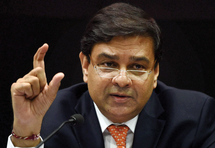 RBI Governor Urjit Patel addressing a press conference in Mumbai. (Press Trust of India)