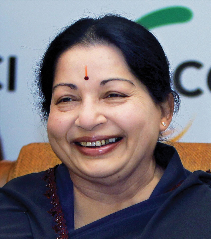 File photo of AIADMK chief J. Jayalalithaa. Jayalalithaa, 68, passed away at Chennai's Apollo Hospital Dec. 5, after suffering a cardiac arrest. (Press Trust of India)
