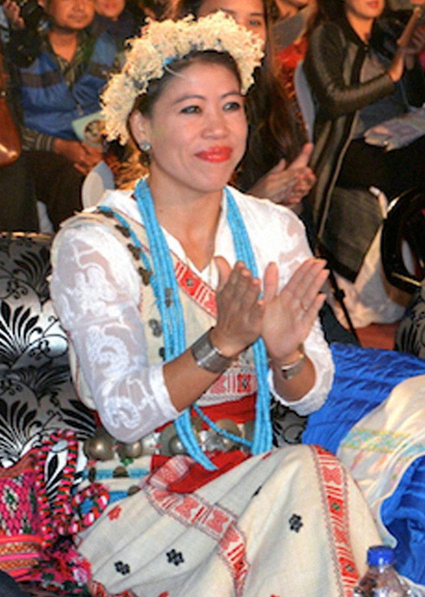 Boxer turned Rajya Sabha Member of Parliament, MC Mary Kom, attends Mrs. Arunachal 2016 pageant at Itanagar, Arunachal Pradesh, Nov. 26. (Press Trust of India)