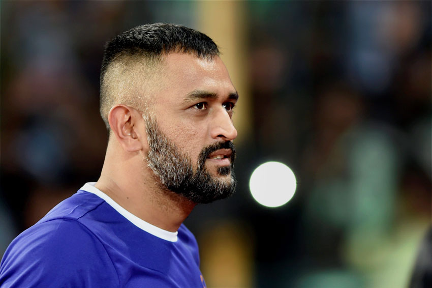 Mahendra Singh Dhoni during the Indian Super League (ISL) match between Chennaiyin FC and  North East United FC at Jawaharlal Nehru Stadium in Chennai, Nov. 26. (R. Senthil Kumar/PTI)