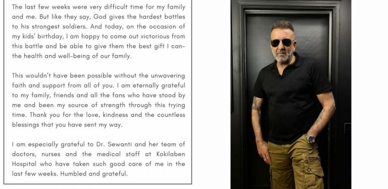 Siliconeer | Sanjay Dutt defeats cancer, issues statement ...